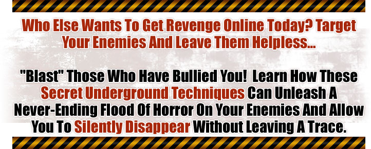 Toxic Internet - How to Get Revenge at the Speed of a Mouse Click